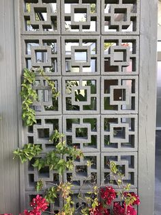 Hanging plants, creative ideas for hanging plants indoors and outdoors - indoor outdoor hanging planter ideas Door Gate Design, Fence Design, Decorative Concrete Blocks, Casa Petra, Breeze Block Wall, Balcony Grill Design, Living Room Divider, Industrial Office Design, Partition Design