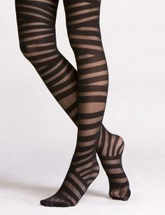 Uneven Stripes by express via luckymag: $11.83 #Tights #express #luckymag