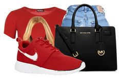 """bad blood"" by love04444 ❤ liked on Polyvore featuring WearAll, MICHAEL Michael Kors and NIKE"