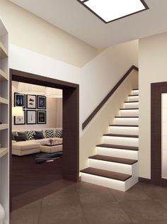 Staircase Railing Design, House Staircase, Modern Interior Design, Interior Design Living Room, Living Room Designs, Home Building Design, Building A House, Bathroom Under Stairs, Casa Patio
