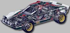 Car Drawings, Rally Car, Car Photography, Vintage Racing, Cutaway, Old Cars, Fiat, Subaru, Peugeot