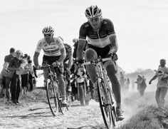 Paris-Roubaix. Thor Hushovd (L) and Fabian Cancellara (R)