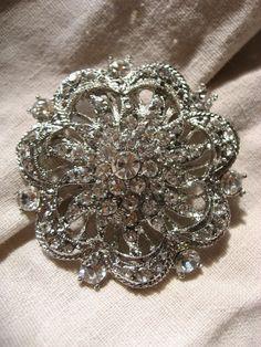 swarovski hair piece for wedding day