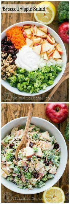 Manzanas y brócoli