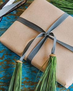 Acorn tops and pine needles make adorable holiday tassels in minutes!