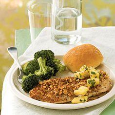 Superfast International Chicken Recipes | Peanut-Crusted Chicken with Pineapple Salsa | CookingLight.com