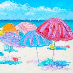 Beach painting prints and beach towels #roundtowel #beachdecor #beachtowel