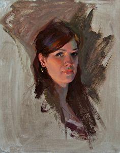 Miriam by Albin Veselka Oil ~ 16 x 12