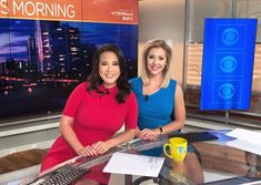 Solid bold colors and face-framing hairstyles are a winner here! News Anchor, Great Hairstyles, Face Framing, Bold Colors, Coaching, Hair Styles, Women, Training, Bright Color Schemes