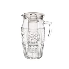 Buy Bormioli Rocco Romantic Water Pitcher – Vintage Victorian Style Glass Carafe With Handle, Lid & Ant-Dilution Ice Core – Elegant Floral Decanter For Iced Tea, Juice, Lemonade, Sangria Water Carafe, Water Pitchers, Glass Pitchers, Sangria Pitcher, Iced Tea Pitcher, Mango Verde, Manufactured Home Porch, Cocina Natural, Green Bubble