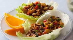 Barbecued Chinese Chicken Lettuce Wraps.