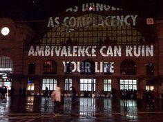 Jenny Holzer Projection - ambivalence, photo by ninastoessinger,