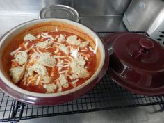 Chicken Parmesan Soup Recipe for Pampered Chef Deep Covered Baker