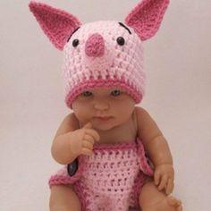 Crochet Piglet Costume
