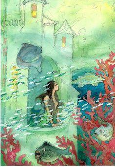 The Little Mermaid, H.C.Andersen fairytales - Illustration Svend Otto S.