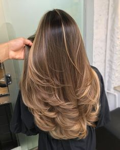 Brown Hair Balayage, Brown Blonde Hair, Dark Hair, Balayage On Straight Hair, Long Hair Highlights, Hair Color Balayage, Blonde Hair On Brunettes, Bayalage Light Brown Hair, Blonde Balayage Honey