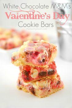 White Chocolate M Valentine's Day Cookie Bars