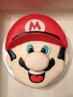 Mario Face Cake by Belle's Cakes