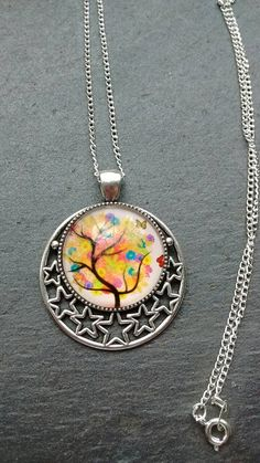Tree Pendant Round Tree Pendant Tree Necklace by TwiggyPeasticks