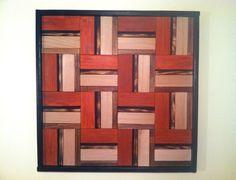 Burnt Sienna Zig Zag Wall Art Wood Wall Art Home by TerramaeAndCo, $180.00