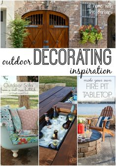 Outdoor Decorating Inspiration- At Home with The Barkers #outdoorliving #summer