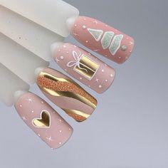Christmas Gel Nails, Christmas Nail Designs, Holiday Nails, Best Acrylic Nails, Acrylic Nail Designs, Nail Art Noel, Super Cute Nails, Nail Art Designs Videos, Glitter Nail Art