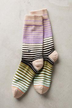 Spectrum Stripe Socks #anthropologie