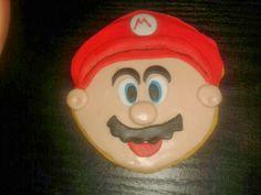 Galleta en fondant de Mario Bros.