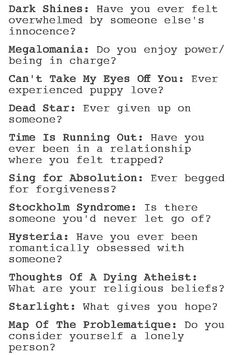 MUSE themed questions #2