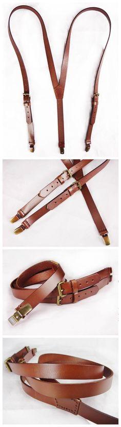 Handmade leather suspenders by Nicoleyy1221 on Etsy, $39.00