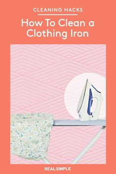 How To Clean a Clothing Iron   Your dress shirts look crisp, but over time your iron might look the worse for wear. Follow this simple technique to get rid of mineral spots on the clothing iron's plate and cleans out caked steam vents. #cleaningtips #cleanhouse #realsimple #stepbystepcleaning #cleaninghacks #cleaningguide