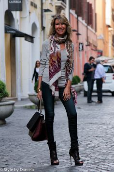 Street Fashion Rome Style By Daniela Romans Consume Enough Wine To Average One Bottle Per
