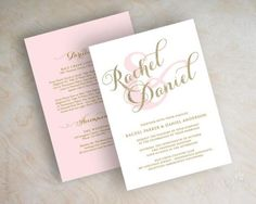 Gold glitter sparkle wedding invitation, pink and gold wedding invitations, typography, script names, cursive wedding invitation, Sparkle    The