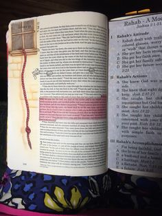 Joshua 2. The story of Rahab. Sherrie Bronniman-Art Journaling: In My Bible