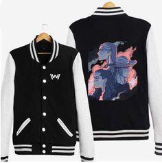 Tv series Westworld baseball jackets cartoon fleece sweatshirts for teens