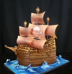 Make the birthday boy or girl very happy by learning how to make the Pirate Ship Cake