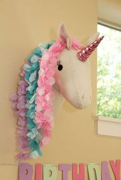 Savannah's 7th Unicorn Birthday Party | CatchMyParty.com