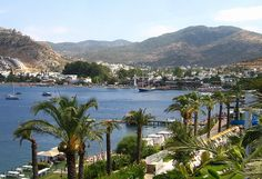 Gundogan Bay from Baia Hotel in a featured guest post on my Bodrum Peninsula Travel Guide