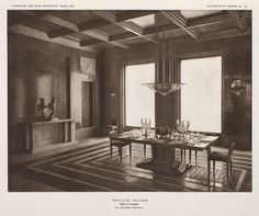 Lalique Dining Room at the 1925 Art Deco exposition in Paris