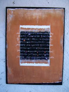 Toile Mark Making, Abstract Paintings, Writings, Mixed Media, Letters, Messages, Artwork, Collection, Canvas