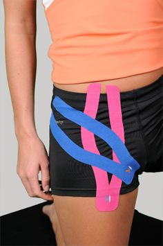 Hip Flexor Pain? No Problem! | KT TAPE tape under the clothes this just show placement