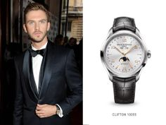 What #watch better to complete #DowntonAbbey's Dan Stevens' look when picking up his award for British #GQ Most Stylish? #baumeetmercier #Clifton #moonphase