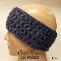 Criss Cross Ear Warmer ~ FREE Crochet Pattern