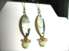 The Funky Monkey Giveaway: Abalone, Jade and Lemon Quartz Earrings from Box of Pearls - Ends 6/26/14