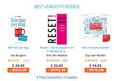 De bestverkochte boeken bij Managementboek op dit moment, waaronder het boek 'RESET!' van Erik Jan Koedijk. #reset #erikjankoedijk #mgtboeknl #futurouitgevers