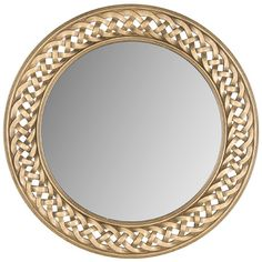 Showcasing a braided openwork frame in gold, this lovely wall mirror is perfect as a focal point in the entryway or a shimmering accent in your master suite....
