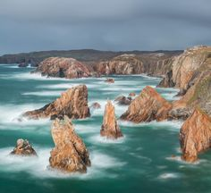 Sea Stacks Aird Fenish Isle of Lewis, Outer Hebrides