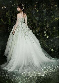 Marvelous Tulle Off-the-shoulder Neckline Ball Gown Wedding Dress With Lace Appliques & Flowers & Beadings NEW! Marvelous Tulle Off-the-shoulder Neckline Ball Gown Wedding Dress With Lace Appliques & Flowers & Beadings Wedding Dresses Near Me, Colored Wedding Gowns, Buy Wedding Dress, Princess Wedding Dresses, Tulle Wedding, Bridal Dresses, Gown Wedding, Fairy Wedding Dress, Civil Wedding