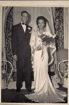 The marriage of Mark W. Brown 's parents in 1946.