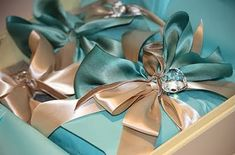 Turquoise & Champagne Colors..gorgeous <3
